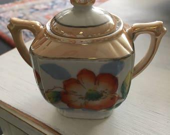 Vintage Sugar Bowl, Made in Japan, Vintage China Lusterware