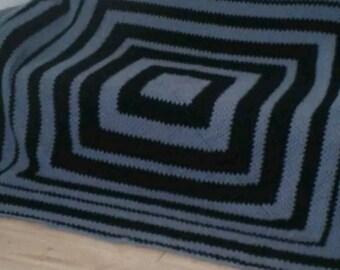 Mohair crochet blanket, rug