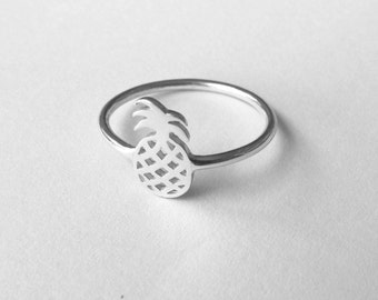 Pineapple Sterling Silver Ring - Made to Order