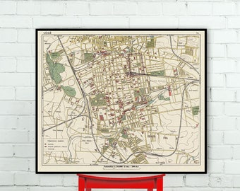 Old Map Of Kobe Historic Maps Reproductions - Old map reproductions