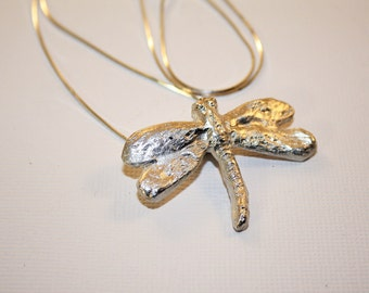 Silver Clay Dragonfly Pendant