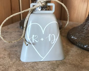 Personalized wedding bell - kissing bell - ring for a kiss - reception kissing bell