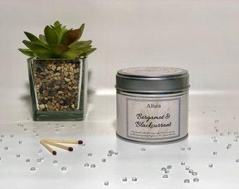 Bergamot & Blackcurrant Scented Candle Tin