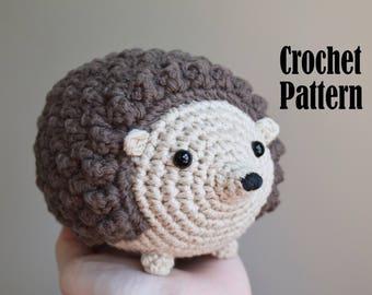 Crochet Amigurumi Pattern: Honey the Hedgehog, Hedgehog Crochet Pattern, Toy, Stuffed Animal
