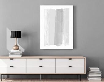 Minimalist Art - Gray & White Print - Scandinavian Art - Abstract Art - Neutral Home Decor - Large Canvas Art - Oversized Wall Art Print