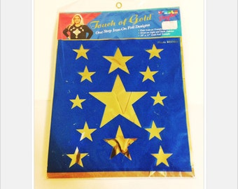 Touch of Gold Retro Iron On Gold Stars 90's