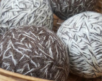 Eco-Friendly, Green Living, 4, 100% wool dryer balls (2 brindle and 2 toasted almond)