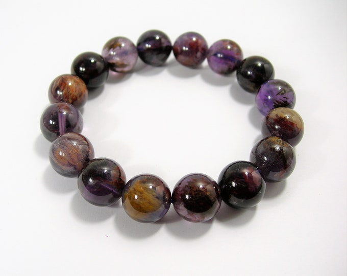 Super seven - 16 beads - 13mm - 48 grams - melody stone - SS11