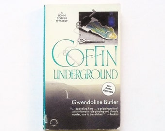 Coffin Underground: A John Coffin Mystery by Gwendoline Butler 1992, Worldwide Vintage Crime Fiction Paperback Book