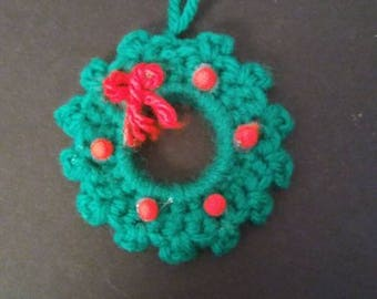 Crochet Christmas wreath 3-pack