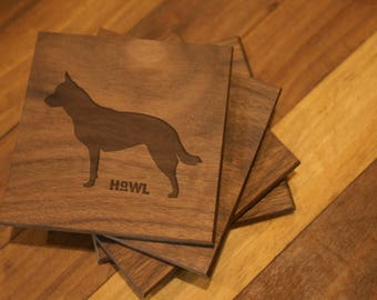 Australian Cattle Dog Coaster Set
