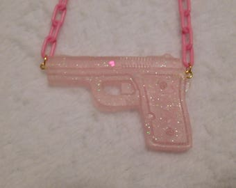 Custom Menhera Gun Necklace