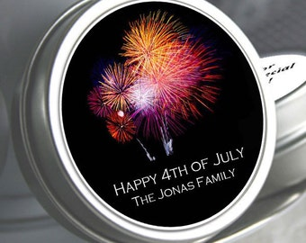 """12 - Fireworks Personalized Mint Tins  - Select the quantity you need below in the """"Pricing & Quantity"""" option tab"""