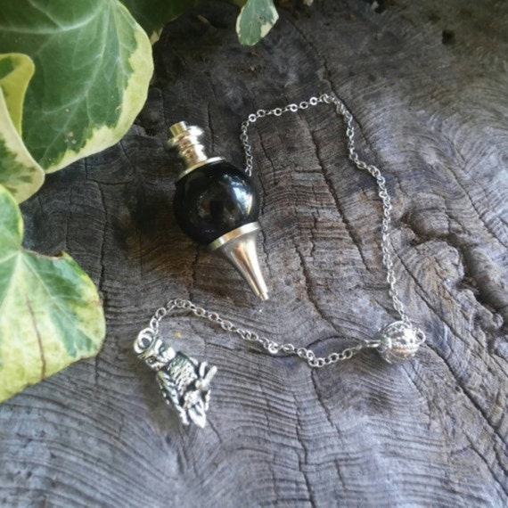 Black Onyx Pendulum - Dowsing Pendulum - Pendulums - Chakra Pendulum - Crystal Pendulum