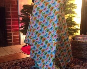 mamas nursing shawl floral print - cotton