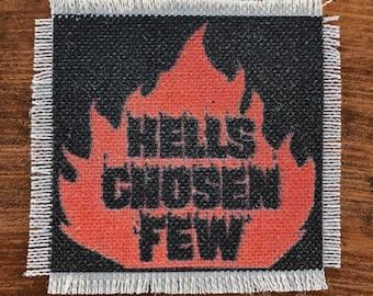 Hell's Chosen Few handmade canvas patch