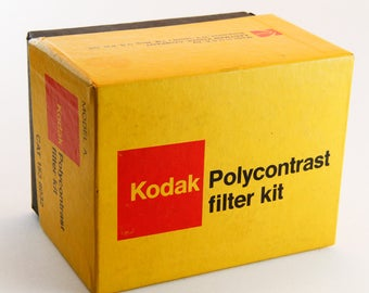 Kodak Polycontrast Filter kit with original box