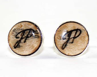 Birdseye wood cufflinks