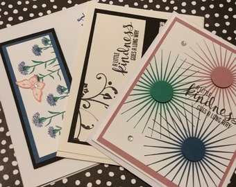 Set of 3 Blank Kindness Cards