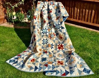 Handmade Patchwork Quilt.....Scrappy Stars