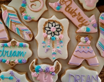 Whimsical boho dreamcatcher cookies (12)