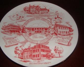 Mason Masonic plate 200th Anniversary The Grand Lodge of NJ F & AM  1786 - 1986  Masonic Landmarks