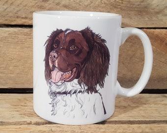 Springer Spaniel Mug from original pen illustration