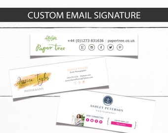 Email Signature Footer template - Custom Email signature for your business or personal email - Email Template - Email html