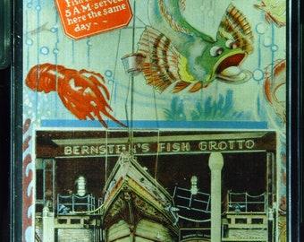 Vintage Linen Bernsteins Fish Grotto San Francisco California Unused