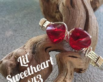 Lil Sweetheart double heart girls bracelet