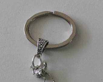 Sterling 3D OSTRICH Key Ring, Key Chain -  Bird, Totem, Poultry, Farm