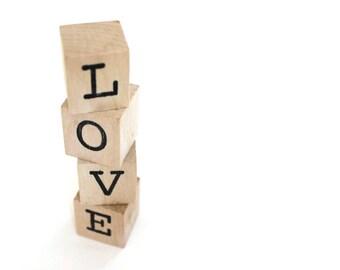 LOVE blocks Personalized Blocks Valentines Day Blocks wooden wedding cake topper wood blocks amor wooden blocks