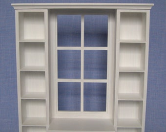 Shelves with window  for 12 inch doll / Barbie doll.