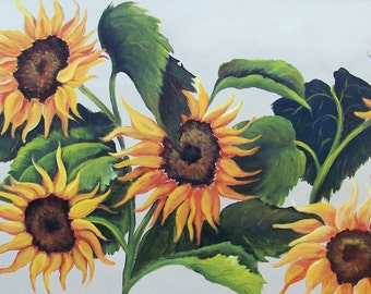 Sunflowers aceo