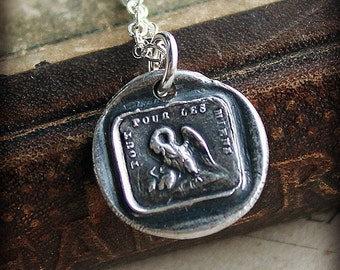 A Mothers Love Wax Seal Charm necklace - Family -  Live and Die for Those We Love