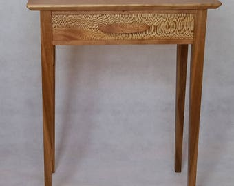 Cherry and Lacewood console table