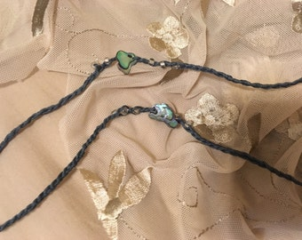 Mother of Pearl and Bamboo Twine Anklet
