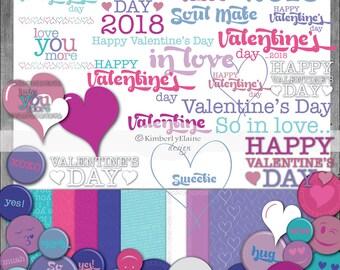 Yearly kit etsy 2018 valentine digital scrapbook kit fandeluxe Gallery