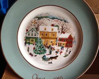 Avon Plate u0027Country Christmasu0027 1980 & Country christmas | Etsy
