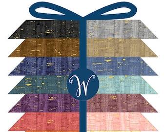 UNCORKED Collection Fat Quarter Bundle (18'' x 22'') 24 count for Windham Fabrics #UNCOFATQ-X 100% Cotton