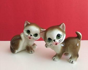 Vintage Ceramic Kitten Figurines