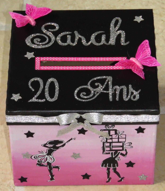 Urne anniversaire jeune fille petite robe noire parfum - Fabriquer une urne anniversaire ...