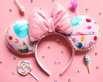 Candy ears,Cotton Candy ears, Sugar Rush ears