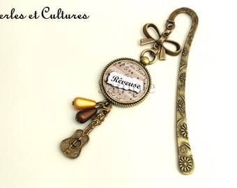 Key sacღ dreamy jewelry ღ ღ notes ღguitare bow cabochonღ verreღ perlesღ music marronღ ღ
