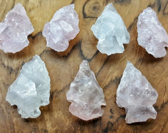 "1"" Rose Quartz Arrowhead   - 020"