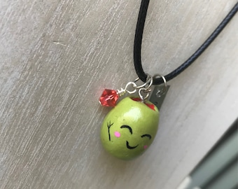 Olive you! Friendship necklace- gift for bff, birthday gift for teens, polymer clay charm