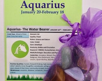 Aquarius  Zodiac Empowerment Pouch