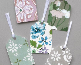 Gift Tags With Vintage Decoration- 15 tags (2nd Set)