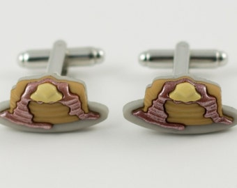 Breakfast Pancakes Cufflinks