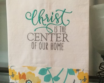 Christ is the Center kitchen towel
